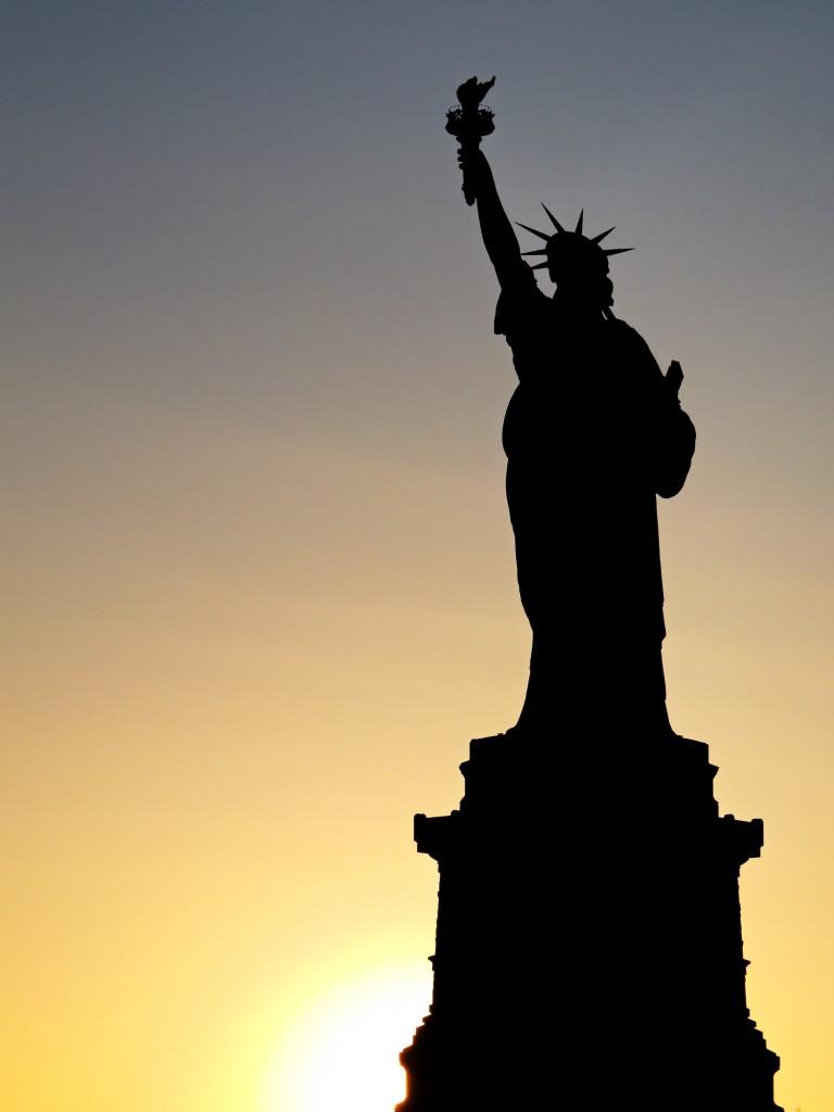 Statue Liberte Silhouette