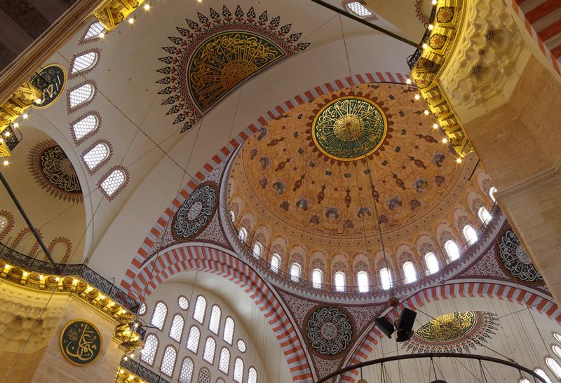 Intérieur de la mosquée de Soliman