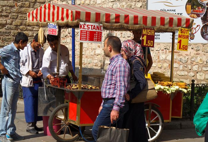Marchant ambulant rue Istanbul