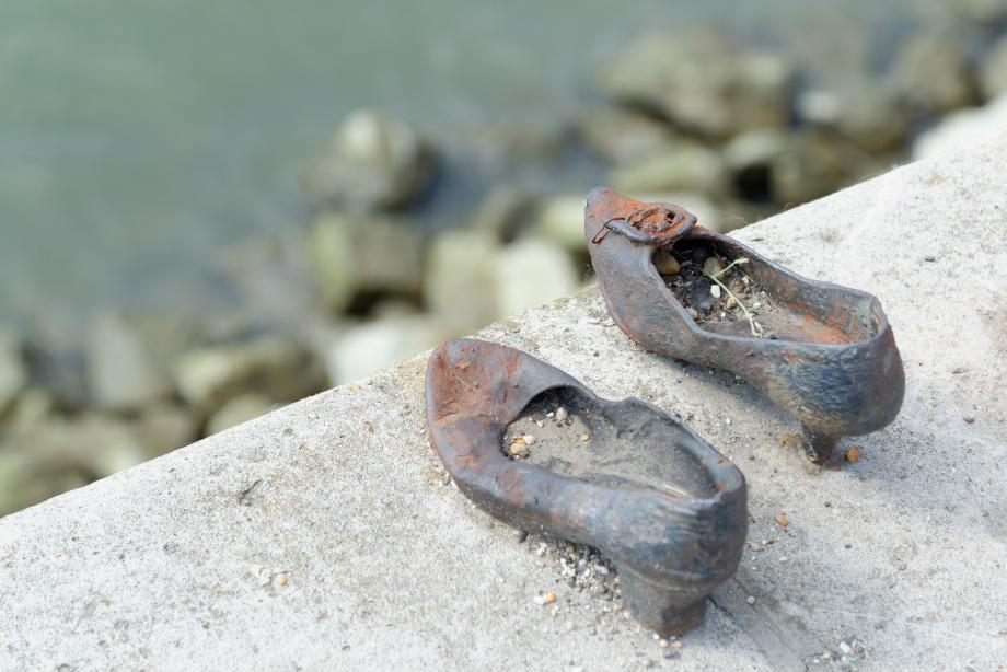Memorial Shoes à Budapest