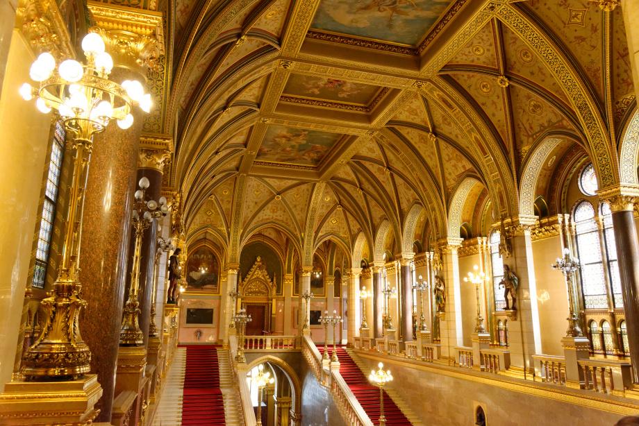 Intérieur du Parlement de Budapest