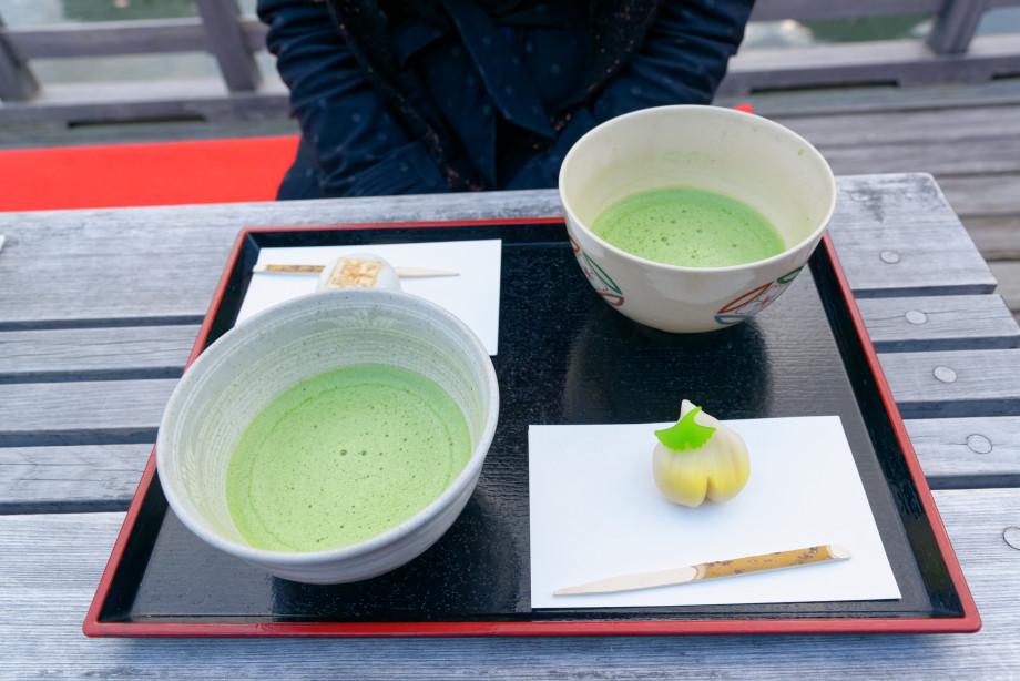 Thé matcha au jardin Hama-Rikyu