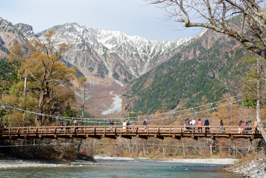 Pont kappabashi à Kamokochi
