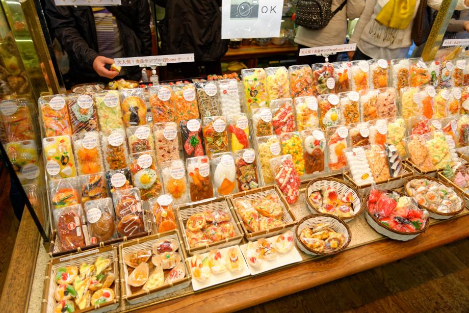Magasin de répliques de plats japonais à Kappabashi