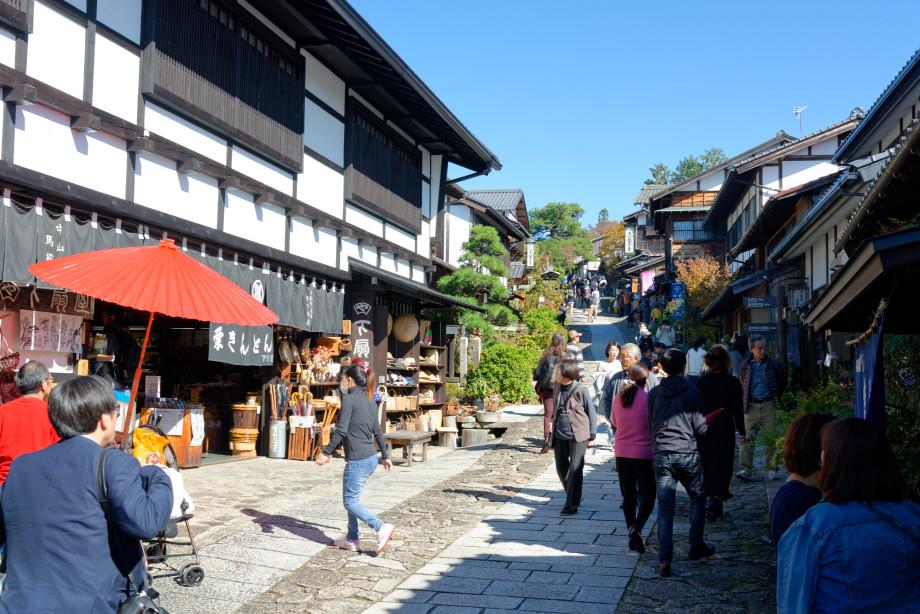 Rue de Magome dans la vallée de kiso