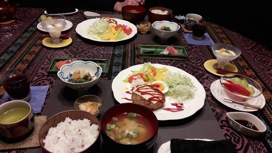 Repas chez Miwa dans la vallée de Kiso