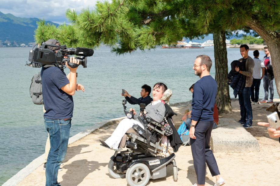 Michalak en tournage à Miyajima