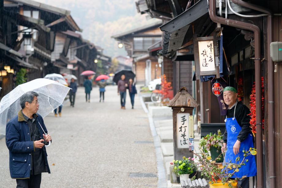 Habitant de Narai Juku dans la vallée de Kiso
