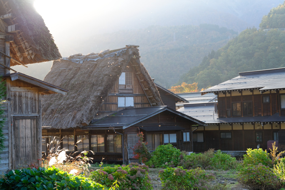 maisons traditionnelles à Shirakawago