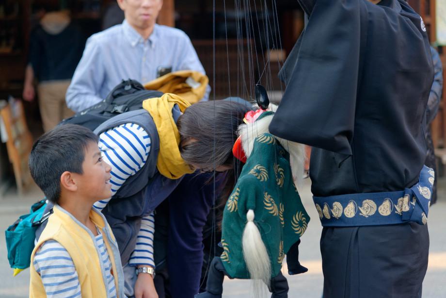 Fin du spectacle de marionnette à Tokyo