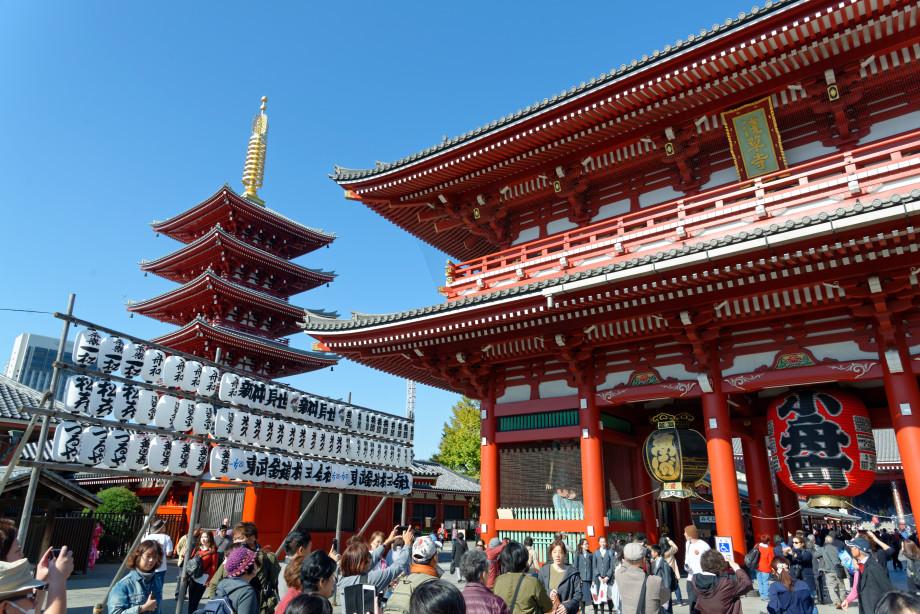 Entrée du Temple de Meiji à Tokyo