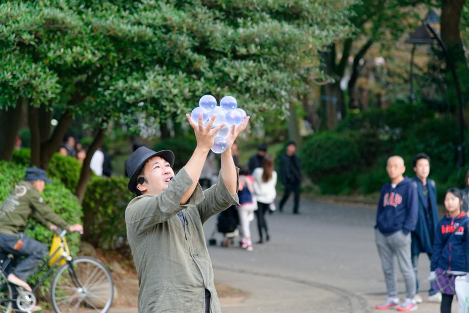 jongleur au parc Ueno