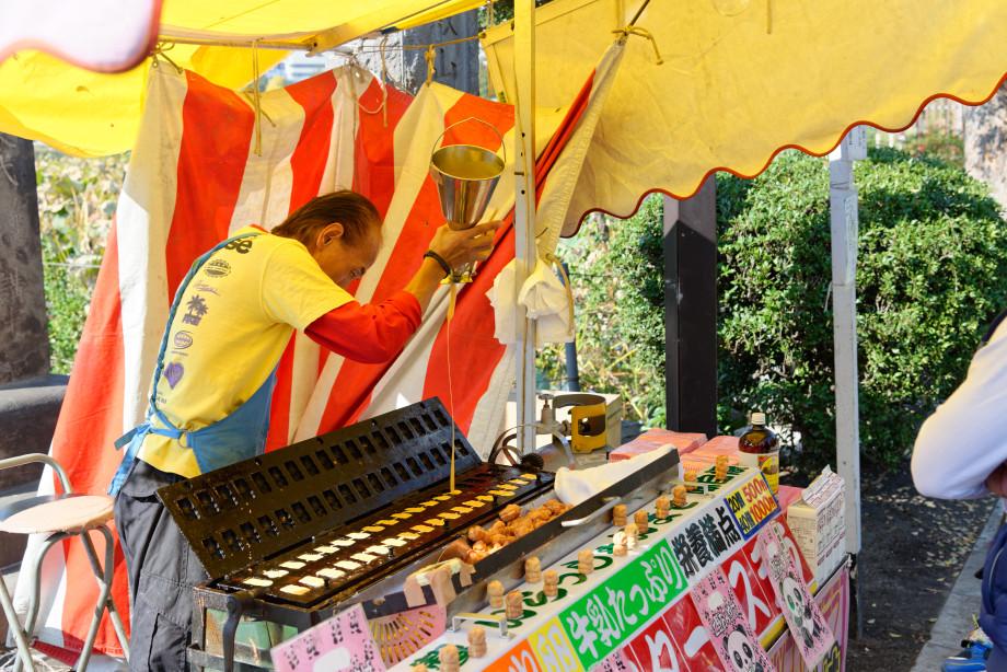 Vendeur de gaufres en forme de panda au parc Ueno