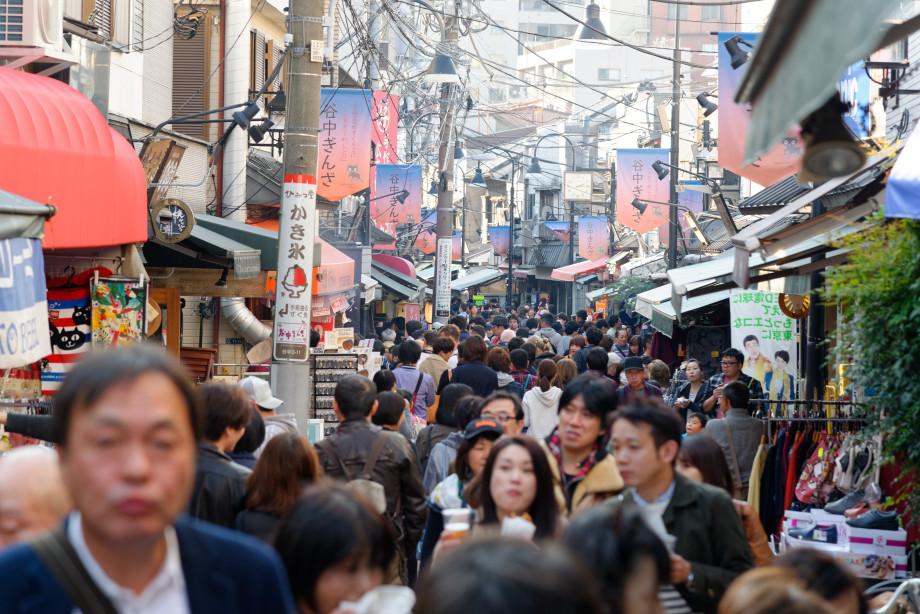 Rue Yanaka Ginza à Tokyo