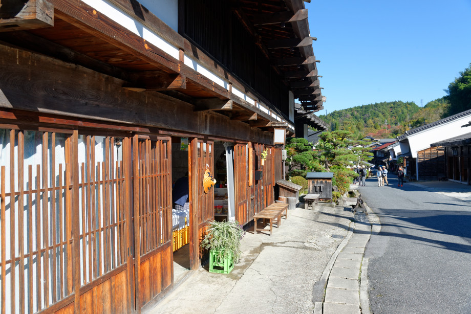 Rue de Tsumago dans la vallée de kiso